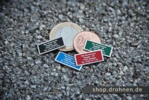 """Drohnen Plaketten Typ """"Nano"""" von drohnen.de"""